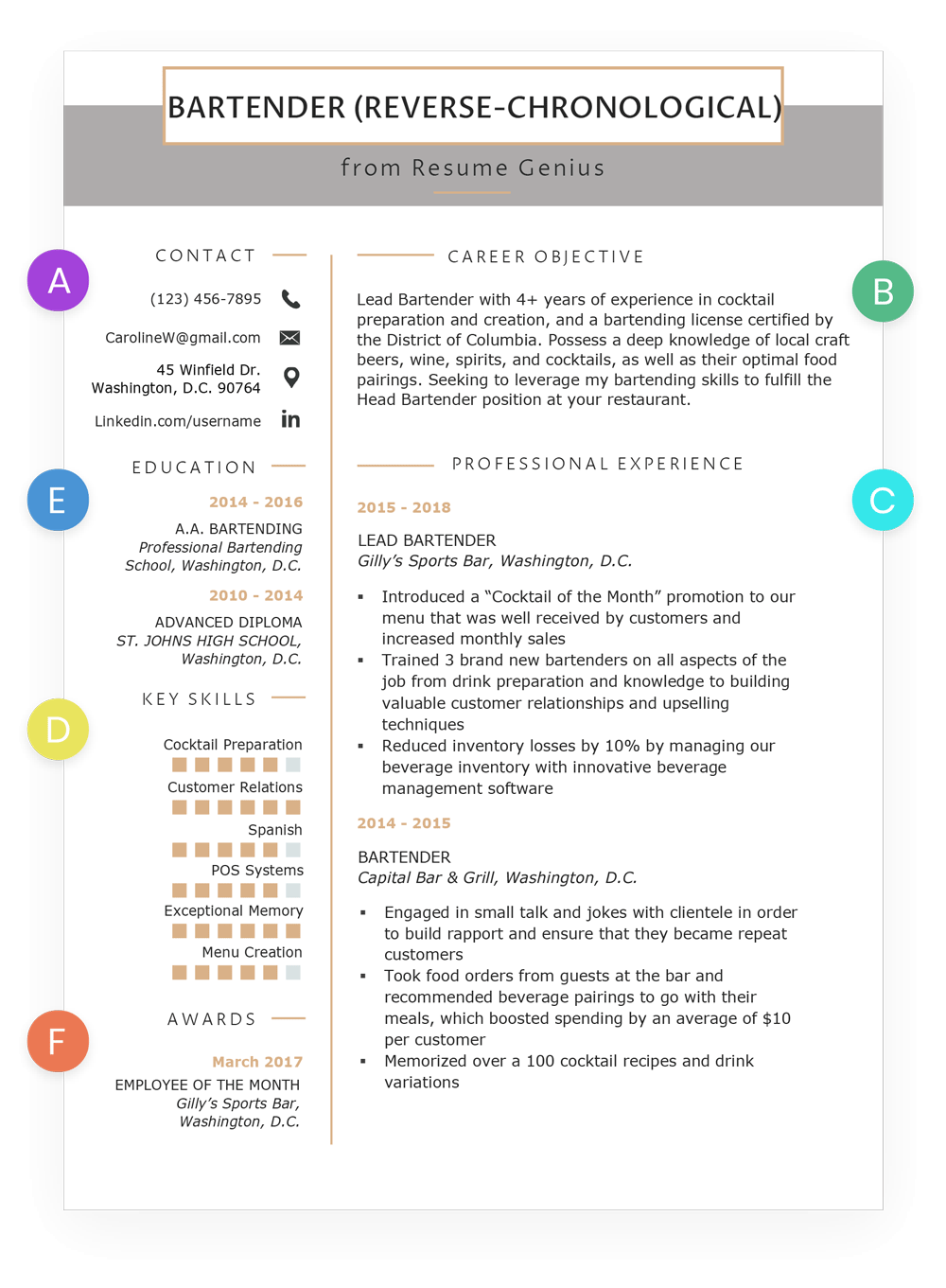 How To Write A Resume Reverse Chronological Format Example