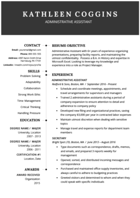 2019 Resume Template Original Hub 1 280x396 - 50+ mba resume samples for experienced people memea
