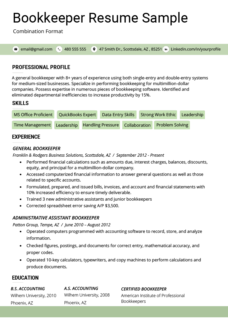 The Combination Resume: Examples, Templates, & Writing Guide | RG