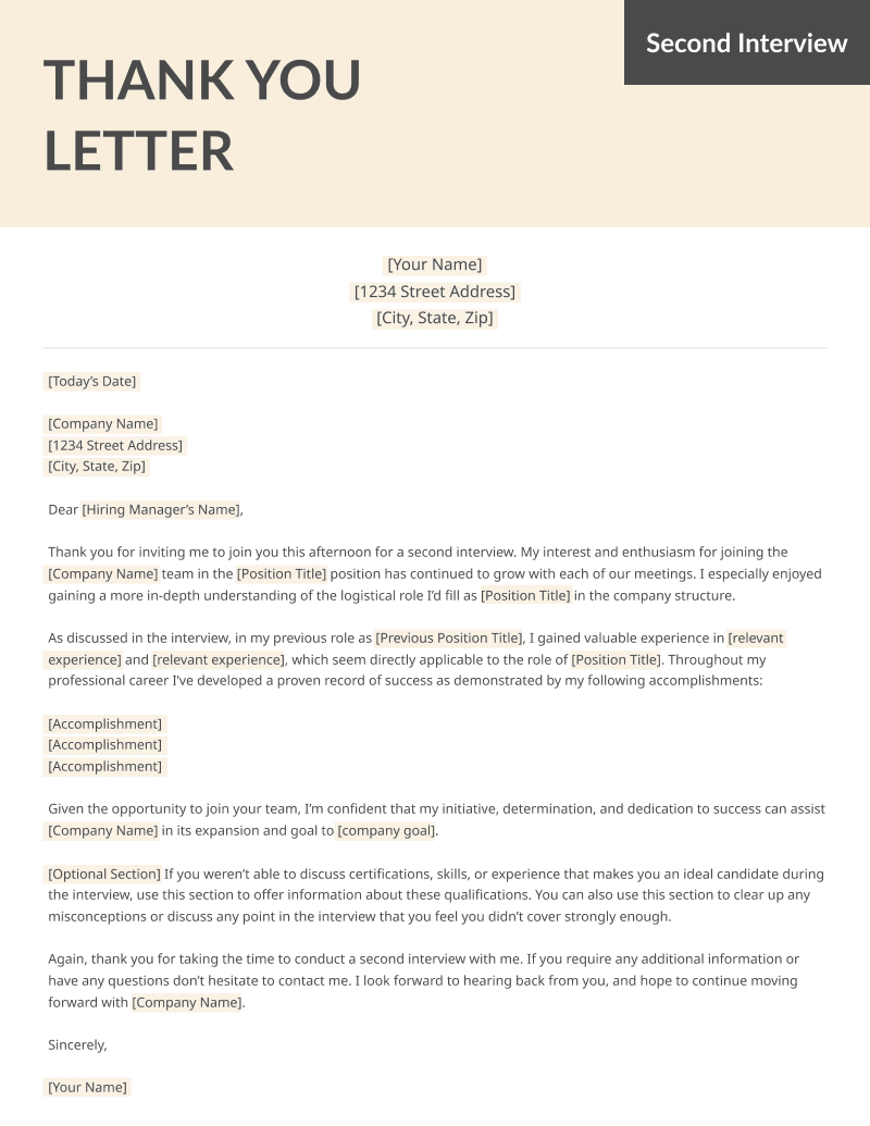 After Interview Thank You Letters Samples Free Ms Word Templates