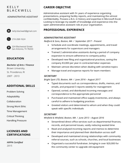 Clean Resume Builder Template