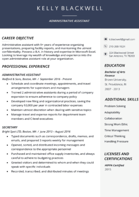 Corporate Resume Builder Template
