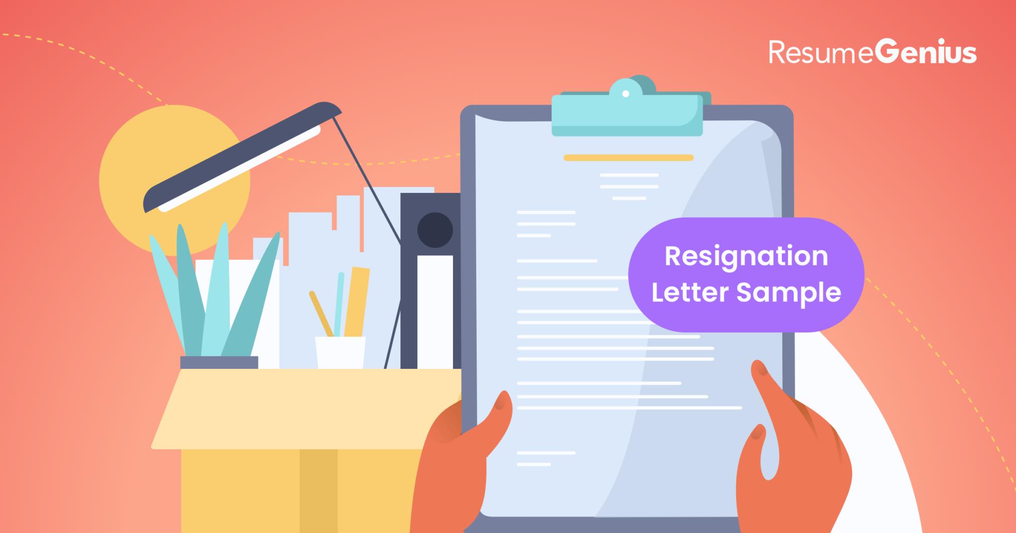 Template For Resignation Letter from resumegenius.com