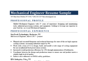 Mechanical Engineering Example Template
