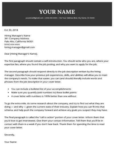 Grab Elegant Cover Letter Builder For Resume  To Get Inspired