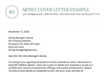 Artist Resume Sample Writing Guide Resume Genius