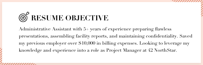 Didot Resume Font Example