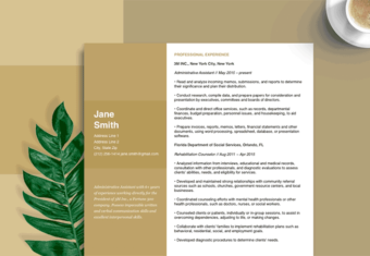 resume tips hero, image of a resume set to a brown background, highlights resume advice