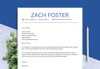 short cover letter example hero image, sample of a cover letter that's under 100 words
