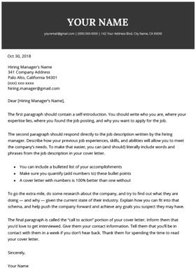 2021 Cover Letter Template Modern