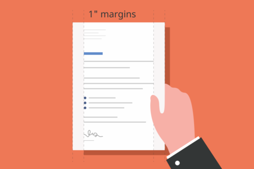 Image showing cover letter spacing and margins.