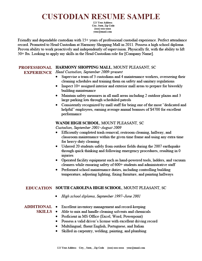 Customer Resume Sample Template