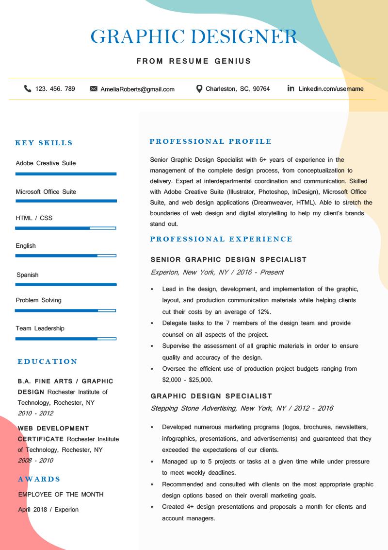 Using graphics on resume essaye la sauce