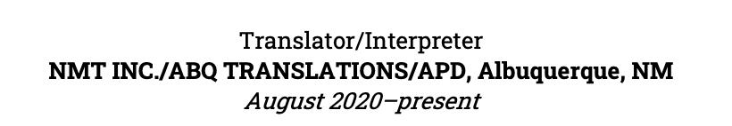 Writing partner company names on a self-employed resume.