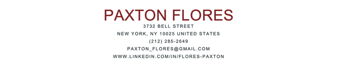 Park Cover letter template in brick red showing example of a cover letter header which includes the name, mailing address, email address, and LinkedIn profile URL