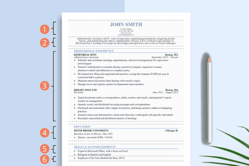 An image of a resume that demonstrates proper resume formatting