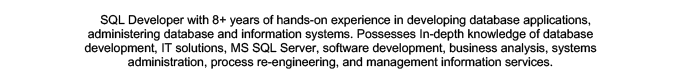 An example of technical skills in a resume summary
