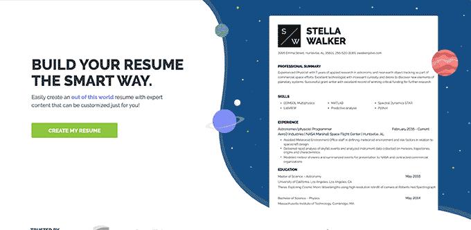 An image from ResumeNerd's resume builder software