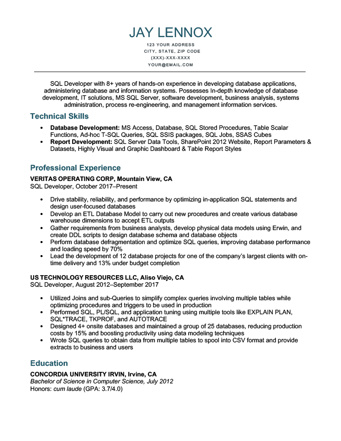 An example of how to list technical skills on a resume