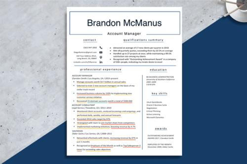 hero image highlighting a job seeker's resume accomplishments. Accomplishments on resume concept