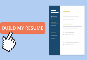An example of what many of the best online resume builders look like