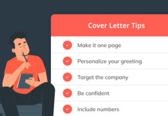 hero image that portrays five important cover letter tips for job seekers