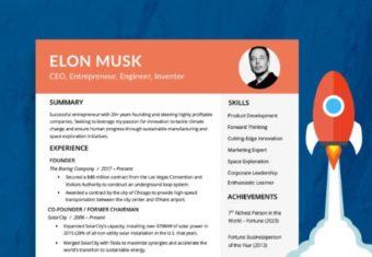 An image of Elon Musk's resume