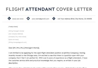 flight attendant cover letter example template hero image