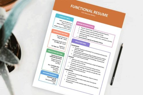 An example of a functional resume format
