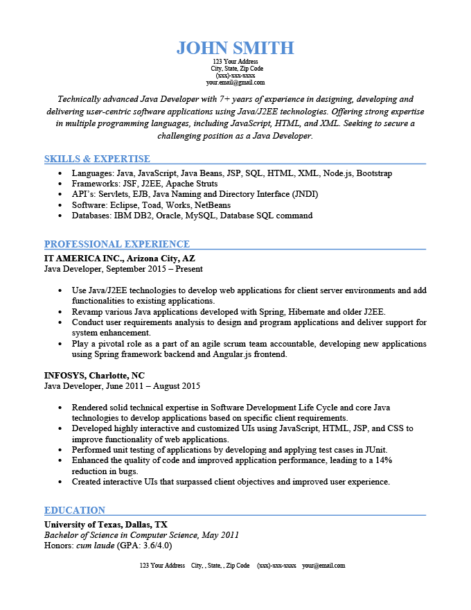 An example of hard skills listed on a resume
