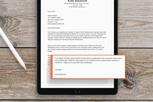 An example of how to end a cover letter properly