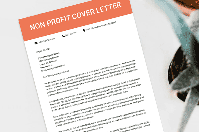 Non Profit Cover Letter Sample Template Writing Tips