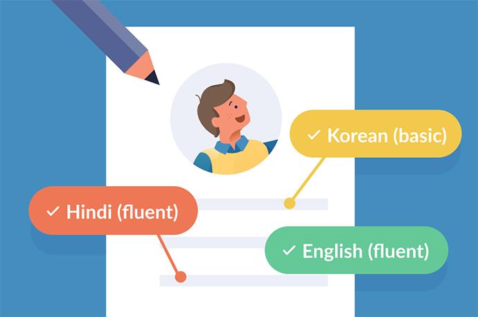 language skills resume