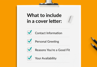 a list of what to include in a cover letter